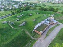 Opinião aérea do nono forte em Kaunas, Lituânia imagens de stock royalty free
