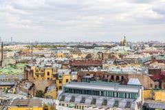 Opinião aérea do panorama de St Petersburg Imagem de Stock