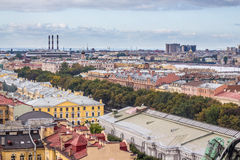 Opinião aérea do panorama de St Petersburg Foto de Stock Royalty Free