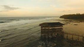 Opinião aérea do ponto da ressaca da nuvem nove Siargao, Filipinas Nuvem 9 filme