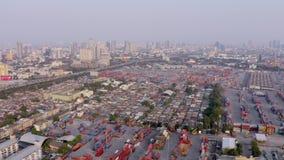 Opinião aérea do porto de Banguecoque vídeos de arquivo