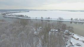 Opinião aérea do rio de Moskva filme
