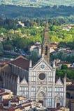 Opinião aérea do telephoto de Florença de uma de muitas torres, Toscânia fotos de stock