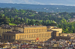Opinião aérea do telephoto de Florença de uma de muitas torres, Toscânia imagens de stock