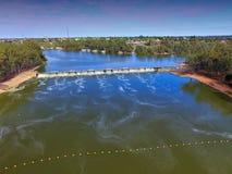 Opinião aérea do Weir de Mildura Foto de Stock Royalty Free