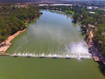 Opinião aérea do Weir de Mildura Fotografia de Stock Royalty Free