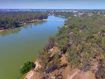 Opinião aérea do Weir de Mildura Imagem de Stock Royalty Free