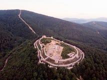 Opinião aérea do zangão do castelo de Aydos em Sultanbeyli/Istambul imagem de stock royalty free