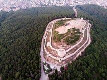 Opinião aérea do zangão do castelo de Aydos em Sultanbeyli/Istambul imagens de stock royalty free