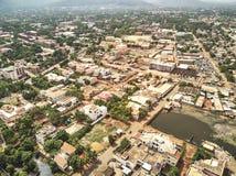 Opinião aérea do zangão do niarela Bamako Mali Imagem de Stock Royalty Free