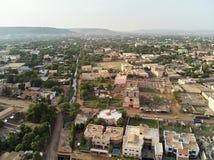 Opinião aérea do zangão do niarela Quizambougou Niger Bamako Mali fotos de stock royalty free