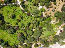 Opinião aérea do zangão do parque de Fenerbahce no beira-mar de Kadikoy/Istambul fotografia de stock