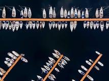 Opinião aérea do zangão Pendik Marina Istanbul Seaside imagem de stock