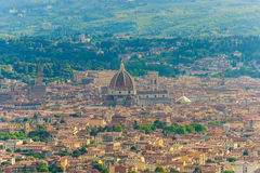 Opinião aérea Florence Italy, do terraço Fiesole Fotografia de Stock Royalty Free
