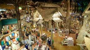 Opinião aérea interna Bass Pro Shop, Memphis Tennessee Foto de Stock Royalty Free