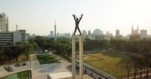 Opinião aérea Irian Jaya Liberation Monument filme