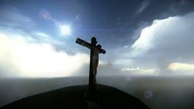 A opinião aérea Jesus crucificou imagens de vídeo vídeos de arquivo