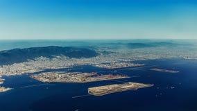 Opinião aérea Kobe Airport em Kobe Fotos de Stock Royalty Free
