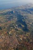 Opinião aérea Mallorca da paisagem litoral, Espanha fotografia de stock royalty free