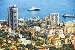 Opinião Monte - Carlo, Monaco fotografia de stock