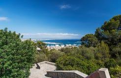 Opinião aérea Palma de Mallorca em Majorca imagens de stock
