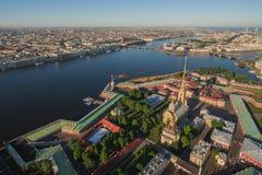 Opinião aérea Peter e Paul Fortress fotos de stock royalty free