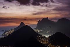 Opinião aérea Rio De janeiro imagens de stock