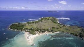 Opinião aérea Saint Martin Beach Fotografia de Stock Royalty Free