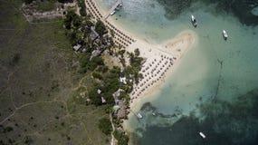 Opinião aérea Saint Martin Beach Fotos de Stock