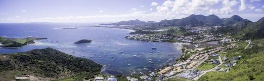 Opinião aérea Saint Martin Beach Imagem de Stock Royalty Free
