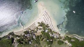 Opinião aérea Saint Martin Beach Fotos de Stock Royalty Free