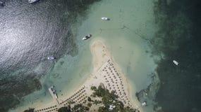 Opinião aérea Saint Martin Beach Foto de Stock
