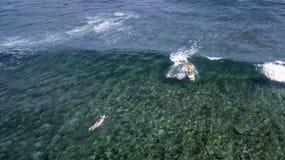Opinião aérea Saint Martin Beach Imagens de Stock