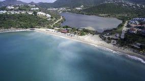 Opinião aérea Saint Martin Beach Imagens de Stock Royalty Free