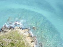 Opinião aérea Saint Martin Beaches Imagem de Stock