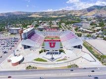 """Opinião aérea Salt Lake City do estádio de Rice†""""Eccles, Utá, EUA Fotografia de Stock"""