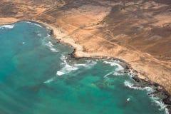 Opinião aérea Santa Maria na ilha Cabo Verde - Cabo Verde do Sal Imagens de Stock