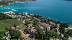Opinião aérea Savino Monastery em Herceg Novi, Montenegro imagem de stock