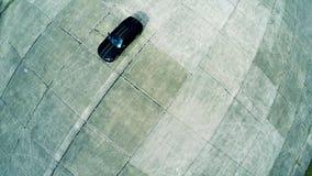 Opinião aérea superior de carro de esportes Imagens de Stock