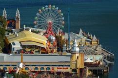 Opinião aérea Sydney Luna Park New South Wales Austrália imagem de stock royalty free