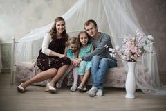 Opinião aérea uma mãe grávida nova Imagem de Stock Royalty Free
