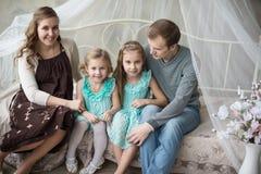 Opinião aérea uma mãe grávida nova Imagens de Stock Royalty Free