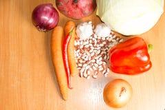 Variedade dos vegetais para cozinhar imagens de stock