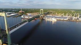 Opinião aérea Walt Whitman Bridge Philadelphia New Jersey video estoque