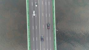 Opinião aérea Walt Whitman Bridge Philadelphia NJ video estoque