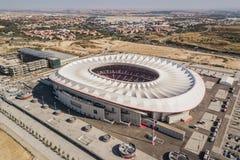 Opinião aérea Wanda Metropolitano Stadium no Madri fotos de stock royalty free