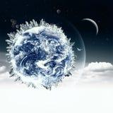 Opinião abstrata da terra nos céus nebulosos Imagem de Stock Royalty Free