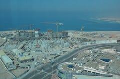 Opinião Abu Dhabi, Emiratos Árabes Unidos Fotos de Stock Royalty Free