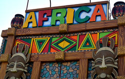 Opinião africana da arte e do ofício na parede Imagem de Stock