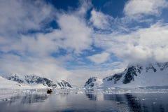 Opinião agradável da Antártica Fotos de Stock